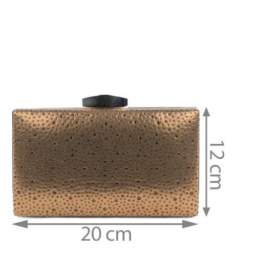 Plic cu strasuri bronze GF1244
