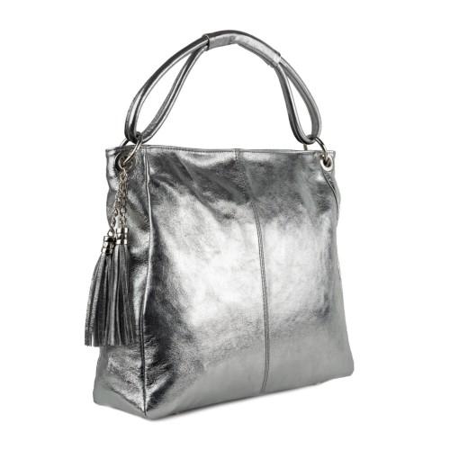 Geanta piele silver sidefat GF1266