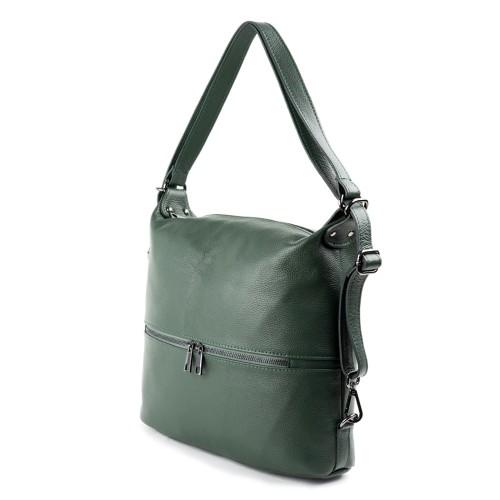 Geanta piele verde tip rucsac GF1271