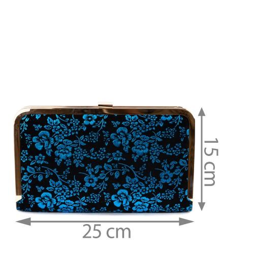 Plic catifea cu flori albastre GF1335
