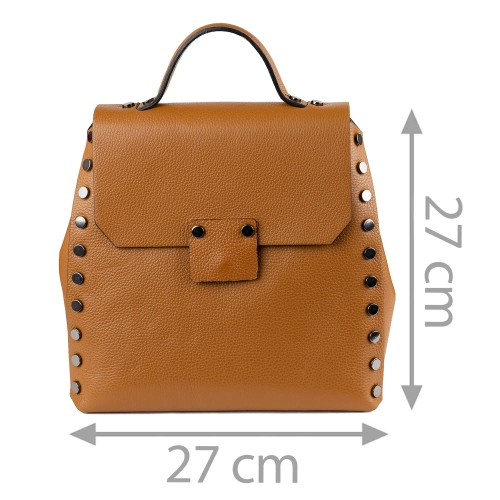 Rucsac tip geanta piele maro GF1351