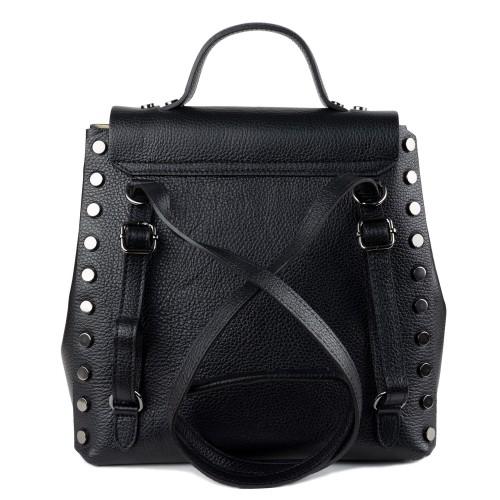 Rucsac tip geanta piele neagra GF1352