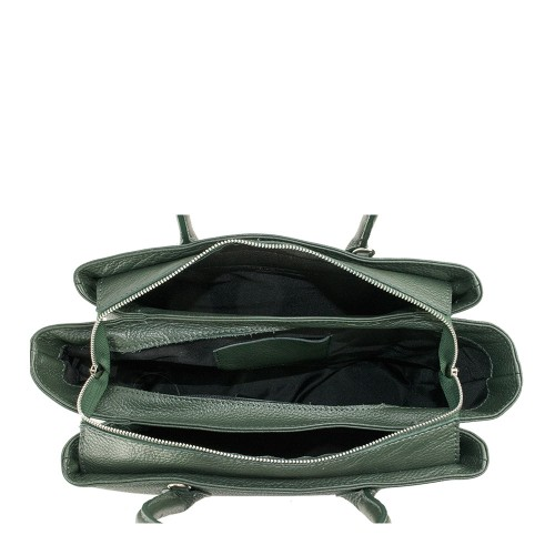 Geanta dama piele verde inchis GF1366