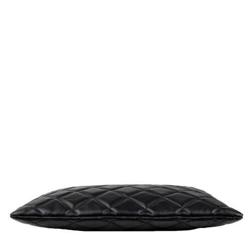 Geanta matlasata piele neagra GF1367