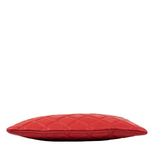 Geanta matlasata piele rosie GF1368