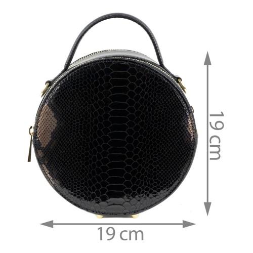 Gentuta piele imprimeu sarpe neagra GF1385