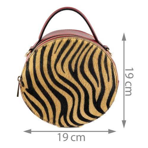Gentuta piele zebra grena par ponei GF1388