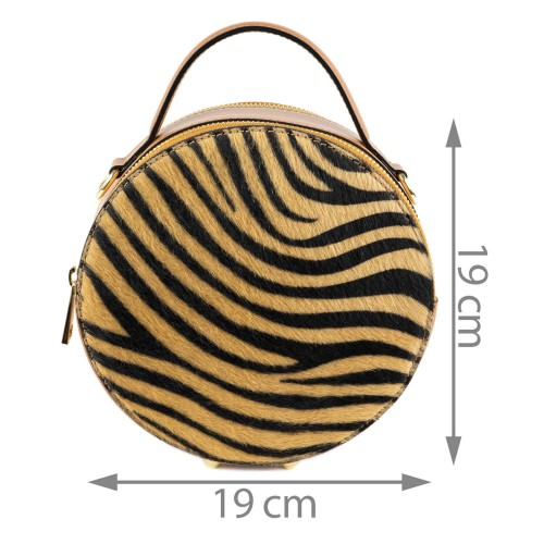 Gentuta piele zebra maro par ponei GF1389