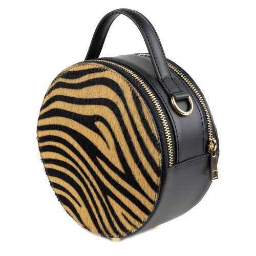Gentuta piele zebra neagra par ponei GF1390