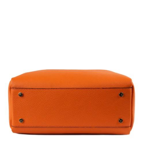 Geanta piele oranj GF1392