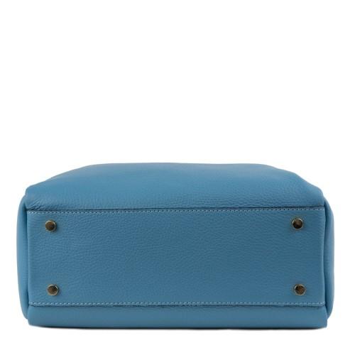 Geanta piele bleu deschis GF1393