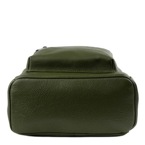 Rucsac piele verde inchis GF1435