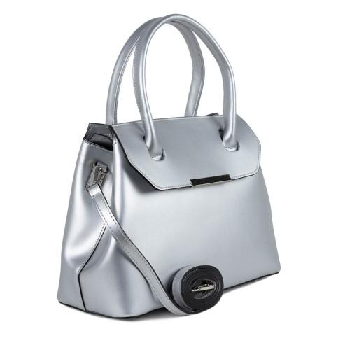 Geanta dama piele argintie GF1495