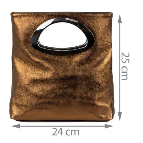 Gentuta piele maro tip plic GF1508
