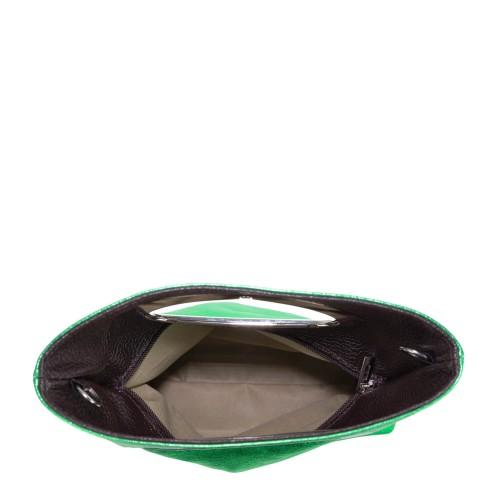Gentuta piele verde tip plic GF1509