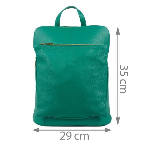 Rucsac piele verde turcoaz GF1536