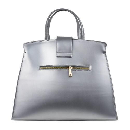Geanta dama piele argintie GF1539