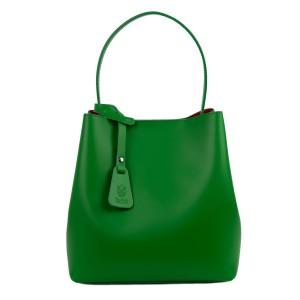 Geanta piele verde GF1557