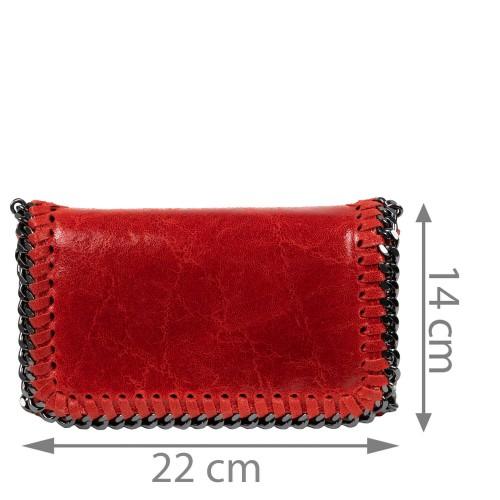 Plic piele rosu tip gentuta GF1580