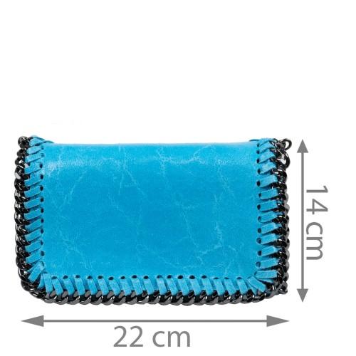 Plic piele albastru tip gentuta GF1585