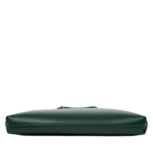 Geanta piele verde tip servieta GF1593
