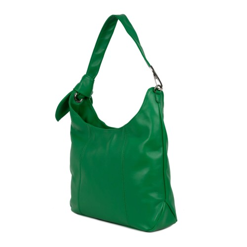 Geanta piele naturala verde GF1595