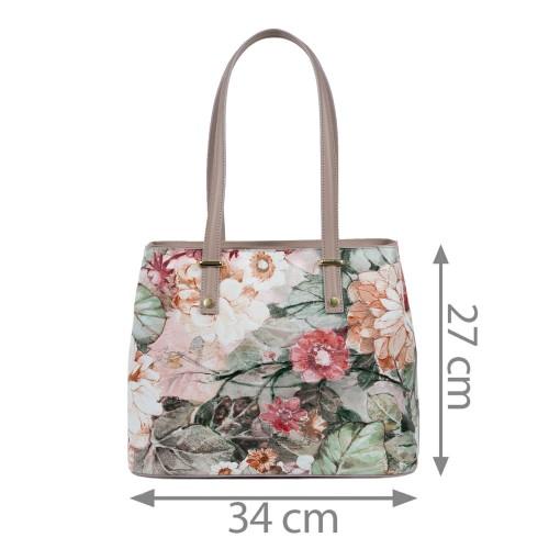 Geanta dama imprimeu flori mari GF1606
