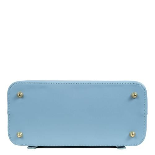 Rucsac piele bleu imprimeu sarpe GF1632