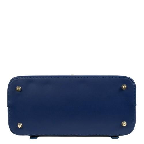 Rucsac piele bleumarin imprimeu sarpe GF1636