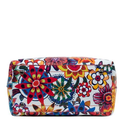 Geanta piele imprimeu floral multicolor GF1662