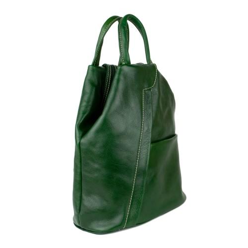 Rucsac dama piele verde inchis GF1768