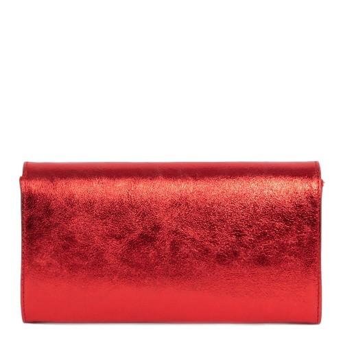 Plic piele rosu sidefat GF1866