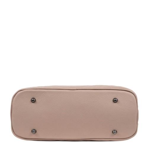 Geanta piele roz pal cu ciucure GF1882
