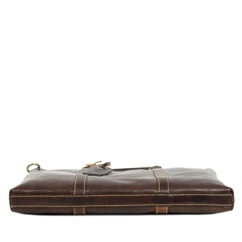 Servieta unisex piele maro brun GF1896