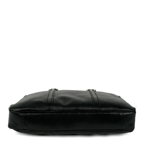 Geanta piele neagra tip servieta GF891 Genti Femei Genti Barbati