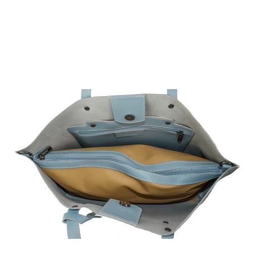 Geanta piele bleu deschis GF902