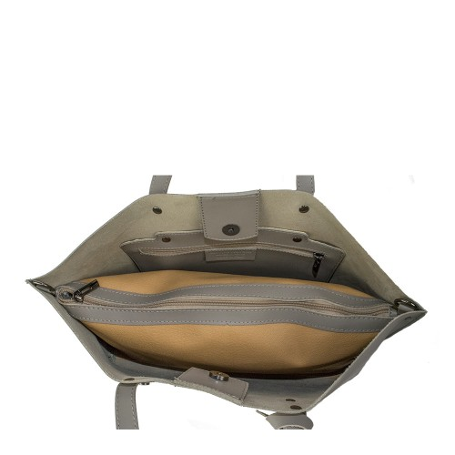 Geanta piele taupe GF903