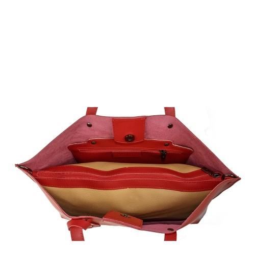 Geanta piele rosie GF905