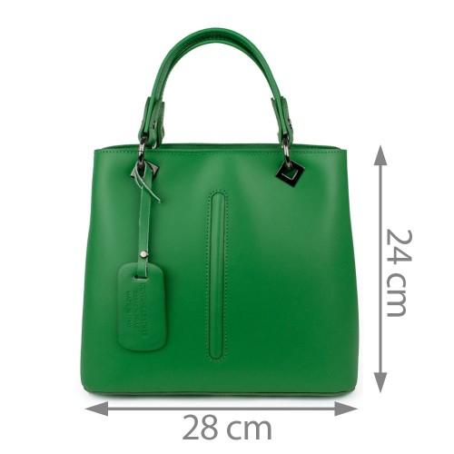 Geanta piele verde GF913