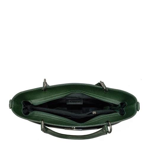 Geanta piele verde inchis GF919