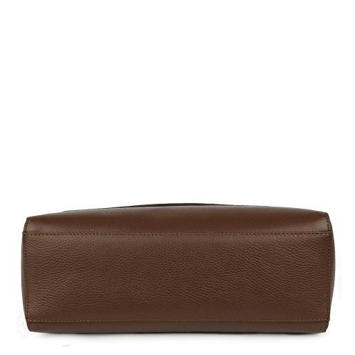 Geanta piele maro ciocolatiu GF929