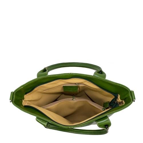 Geanta piele verde GF933