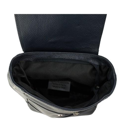 Rucsac dama cerneala/negru cu ciucuri GF944