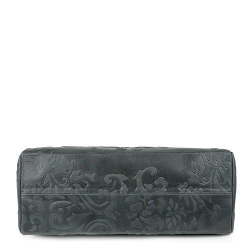 Geanta piele gri plumb imprimeu GF948