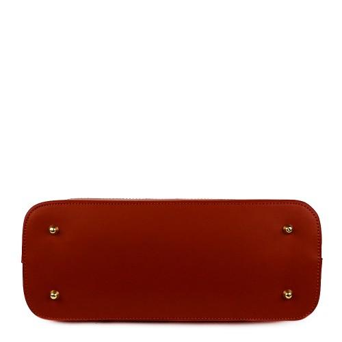 Geanta piele rosie imprimeu GF960