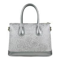 Geanta piele silver imprimeu GF961 Genti Dama