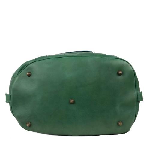 Geanta voiaj din piele verde GV019