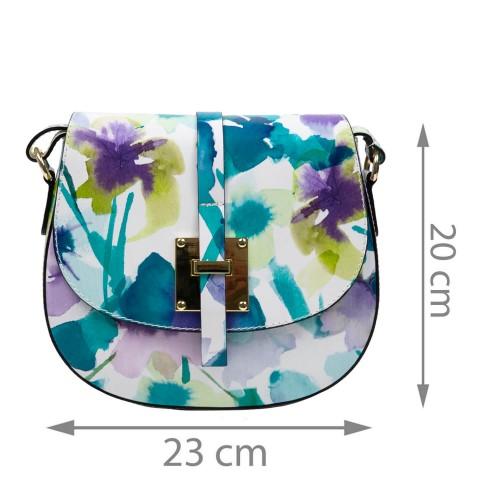 Gentuta piele imprimeu floral mic GF1676