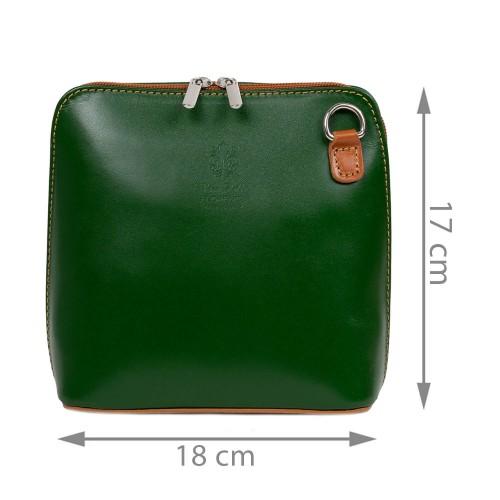 Gentuta piele verde /maro GF2455