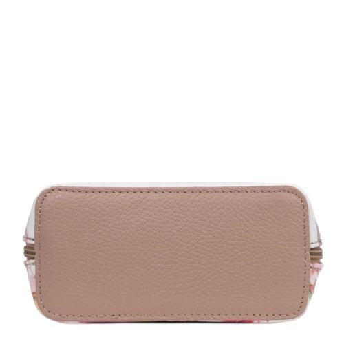 Gentuta piele roz prafuit imprimeu floral GF2457